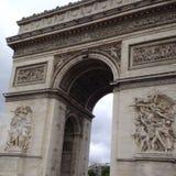 Arc de Triomphe. Touring Paris, France Royalty Free Stock Images
