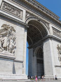 Arc de Triomphe Towering Over its Visitors - Paris, France Stock Photography