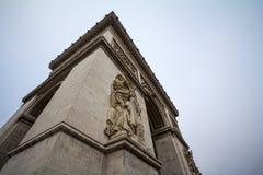 Arc de Triomphe Triumph αψίδα, ή θριαμβευτική αψίδα place de λ ` Etoile στο Παρίσι, που λαμβάνεται από κάτω από Στοκ εικόνες με δικαίωμα ελεύθερης χρήσης
