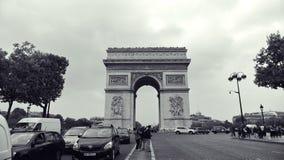 Arc de Triomphe, um dos monumentos os mais famosos em Paris Imagens de Stock Royalty Free