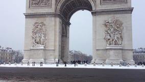 Arc de Triomphe Under The Snow stock video