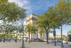 Arc de triomphe. View on the famous arc de triomphe in paris Royalty Free Stock Photo