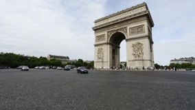 Arc de Triomphe stock video