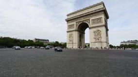 Arc de Triomphe stock video