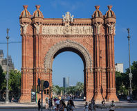 The Arc de Trionf Barcelona Spain Royalty Free Stock Photo