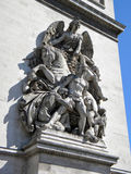 Arc de Trionphe, Paris. Sculptural detail of the Arc de Triomphe, Paris Royalty Free Stock Photo