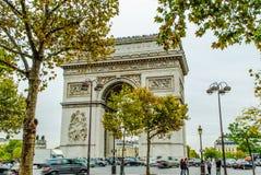 Arc de Triumph, Παρίσι Στοκ Εικόνα