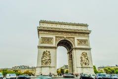 Arc de Triumph, Παρίσι Στοκ Φωτογραφία