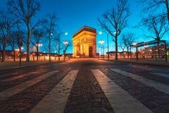 Arc de Triumph στο Παρίσι, Γαλλία Στοκ Φωτογραφίες