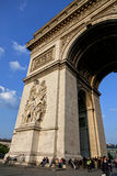 Arc de Triumph στο Παρίσι Στοκ εικόνα με δικαίωμα ελεύθερης χρήσης