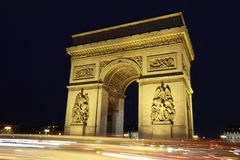 Arc de triumph. Arc in Paris Arc de triumph with french flag Royalty Free Stock Image