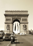 Arc de triumph. Parisian pictures - arc de triumph Royalty Free Stock Photography
