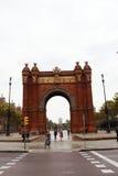 Arc de Triumph Barcelona. View over the Arc de Triumph Barcelona, Spain Royalty Free Stock Image