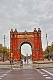 Arc de Triumph Barcelona in HDR. View over the Arc de Triumph Barcelona, Spain Stock Images