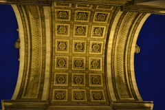 Arc de Triumph ceiling in Paris Stock Photography
