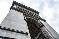 Arc de Triumph. A closeup view of the Arc de triumph in Paris France Royalty Free Stock Photo