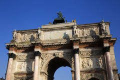 Arc de Triumph du Carrousel. Arc  Triumph du Carrousel in Paris, France Stock Photo
