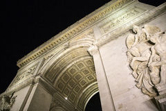 Arc de Triumph. Famous Arc de Triumph in Paris, France Royalty Free Stock Photography