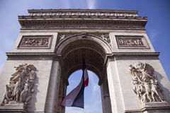 Arc de Triumph. Famous Arc de Triumph in Paris, France Stock Photography