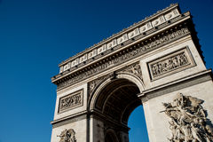 Arc De Triumph. Looking up at the Arc De triumph Stock Image