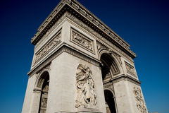 Arc De Triumph. Looking up at the Arc De triumph Stock Photo
