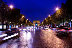 Arc de triumph at night Stock Images