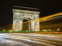 Arc de Triumph at night, Paris, France.  Stock Photography