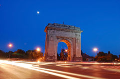 Arc de triumph nightscene Stock Photos