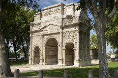 Arc de triumph in Orange city, South France. Historic Arc de triumph in Orange city, South France Royalty Free Stock Image