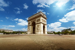 Arc de Triumph, Paris. Arc de Triumph in Paris Royalty Free Stock Photo