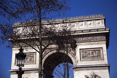 Arc de Triumph. In Paris Royalty Free Stock Photos