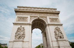 Arc de Triumph in Paris Stock Photo