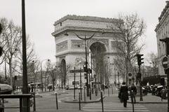 Arc de triumph. Paris cityscape black & white Stock Photography
