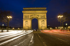 Arc de Triumph , Paris, France Royalty Free Stock Photo