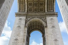 Arc de Triumph in Paris Stock Photos