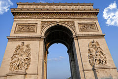 Arc de Triumph, in Paris. In France Royalty Free Stock Photo