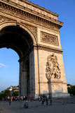 Arc de Triumph in Paris Royalty Free Stock Photo