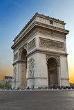 Arc de Triumph, in Paris Royalty Free Stock Photography