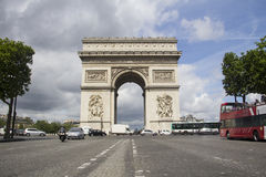 Arc de Triumph. The Arc de Triumph in Paris, France Royalty Free Stock Image