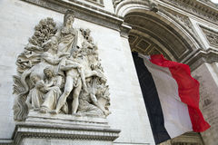 Arc de Triumph. Arc de Triumph in Paris, France Royalty Free Stock Images