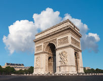 Arc de Triumph in Paris, France. On a bright morning Royalty Free Stock Image