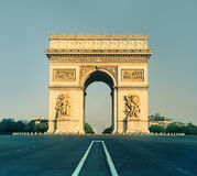Arc de Triumph in Paris, France. Front view Stock Photography
