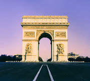 Arc de Triumph in Paris, France Stock Image