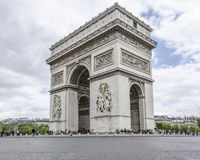Arc de Triumph in Paris, France. PARIS, FRANCE, 20 MAY 2012 - Arc de Triumph in Paris Stock Photo