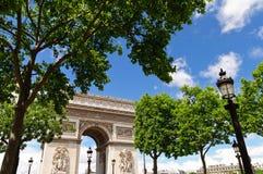 Arc de Triumph, Paris. Thefamous Arc de Triumph in Paris Royalty Free Stock Photos