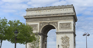 Arc de Triumphe Monument Παρίσι Στοκ Εικόνα