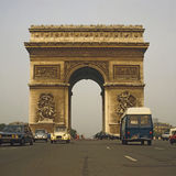 Arc de Triumphe, Paris. Arc de Triumphe with traffic in Paris Stock Photography