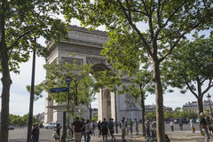 Arc de triumphe on place charles de gaulle in paris Stock Photography