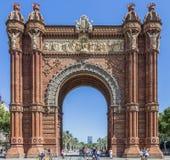 Arc de Troimf, Βαρκελώνη, Ισπανία Στοκ Εικόνες