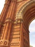 Arc del Triomf in Barcelona Stock Image